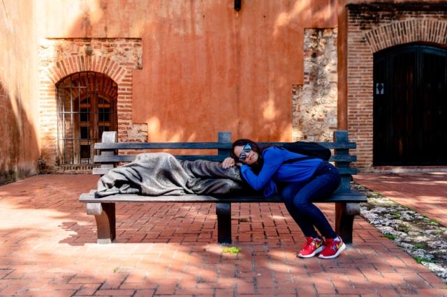 Melissa and homeless Jesus